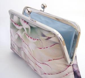 Image of Pastel petals silk clutch bag