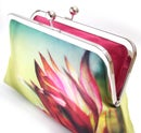 Image of Astrantia pink flower clutch bag, wedding bridal purse