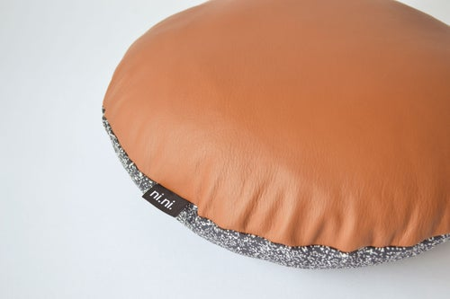 Image of Leather Galaxy Cushion Cover - Round