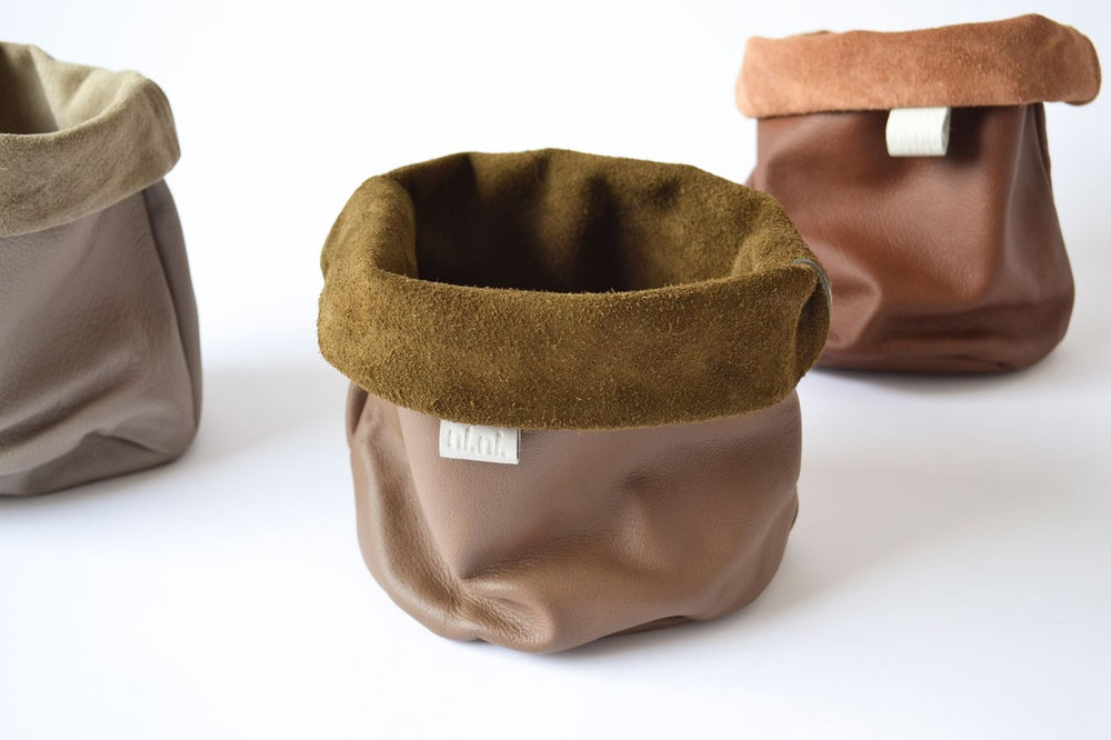 Image of - SALE - Leather Storage Pouch - Browns small