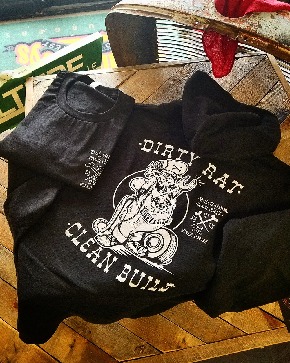 Image of Dirty Rat Hoodie As Seen on Discovery Channel's Street Outlaws
