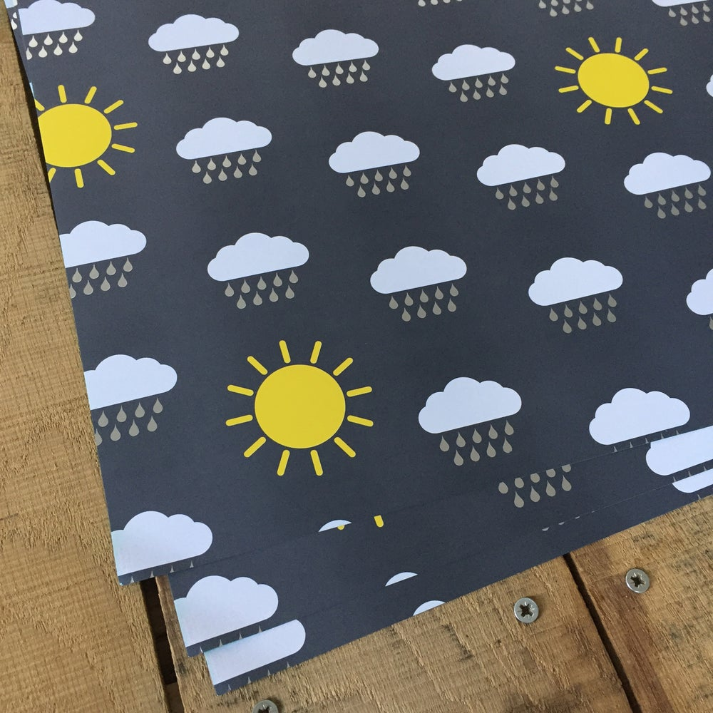 Image of Sunshine + Showers Weather Map Gift Wrapping Paper