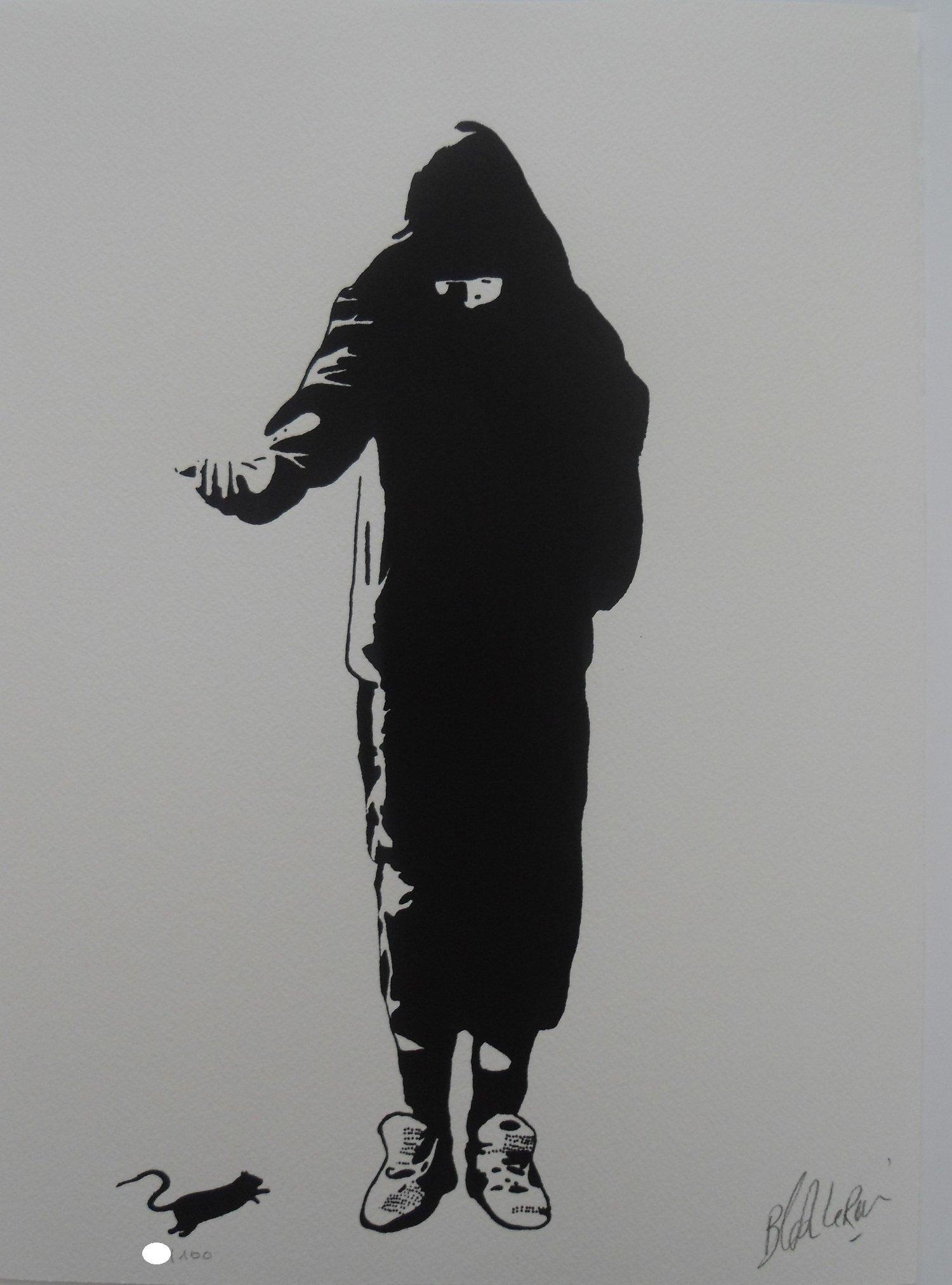"Image of BLEK LE RAT - ""BEGGAR"" (LE MENDIANT) - LTD ED SCREENPRINT OF 100"
