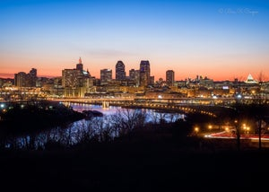 Twin Cities After Sunset