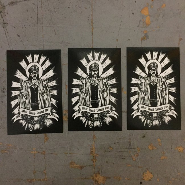 Image of 3 pack of What Would Lemmy Do Stickers WWLD by Seven 13 Productions