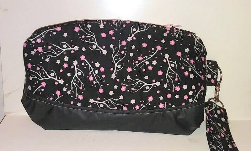 Image of Cherry Blossom Curved Wristlet