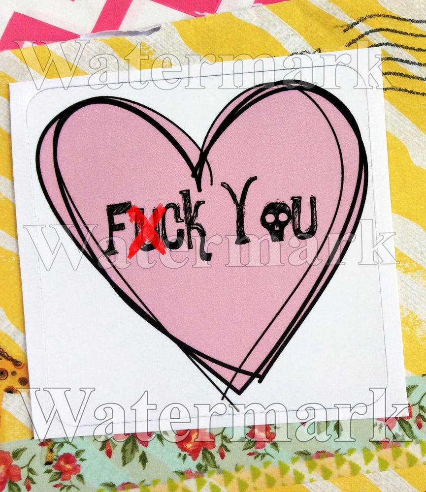 Image of fuck you stickers