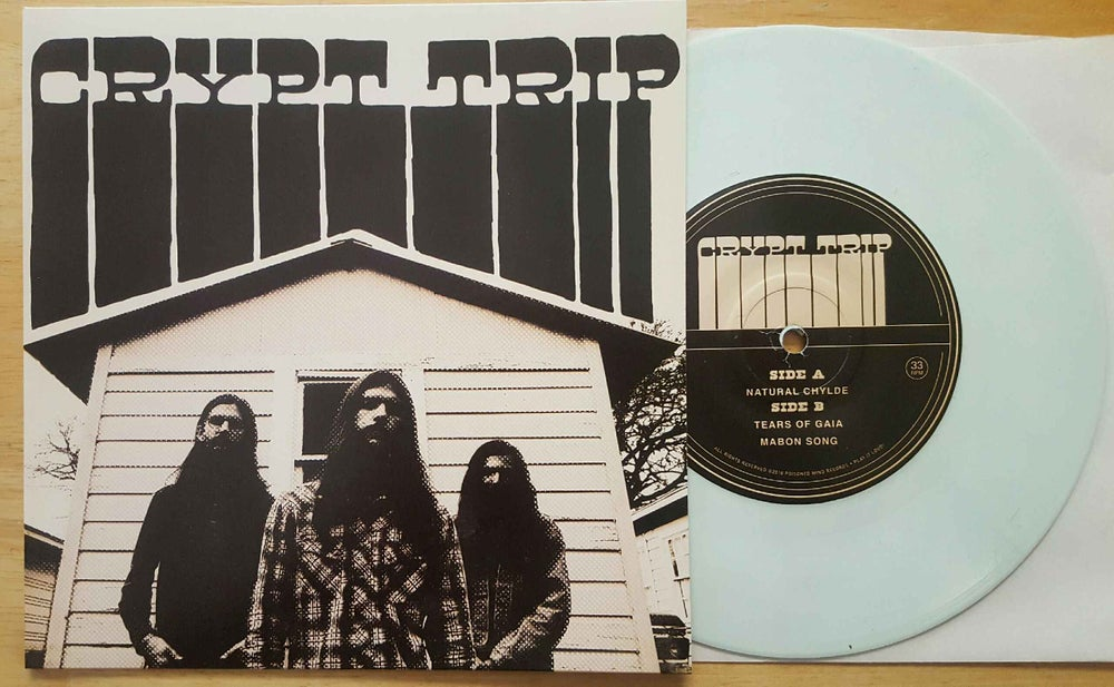 "Image of Crypt Trip: Mabon Songs 7"" white vinyl 56 Copies"