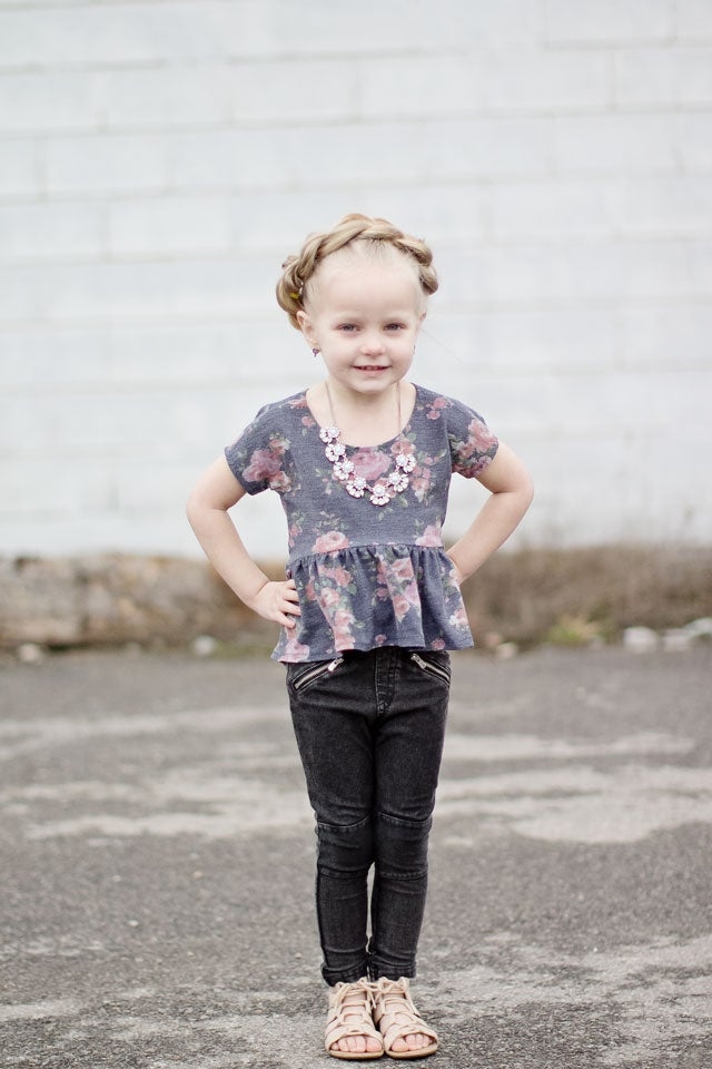 Image of the ROSIE top GIRLS pdf pattern