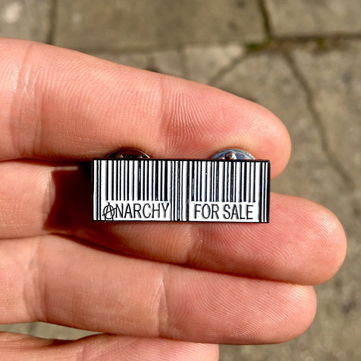 Image of Anarchy For Sale Enamel Pin