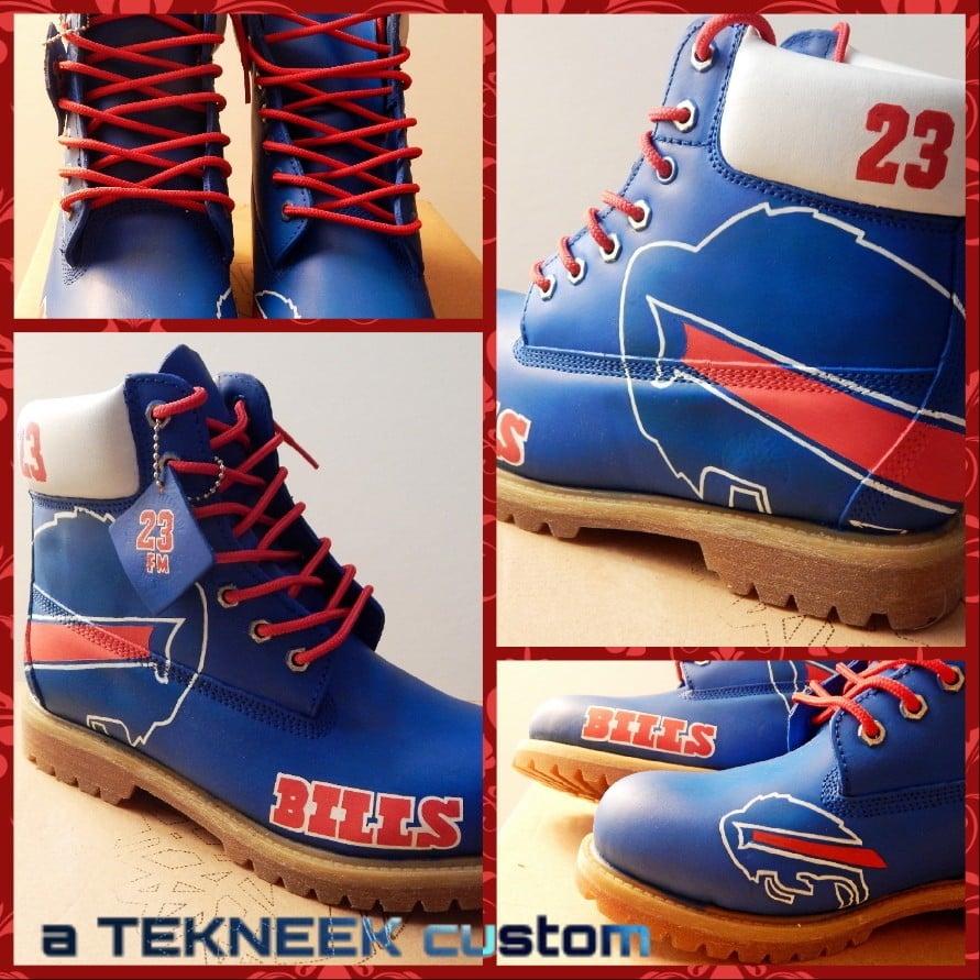 3db3983f817a Tekneek Customs — Buffalo Bills custom Timberland boots