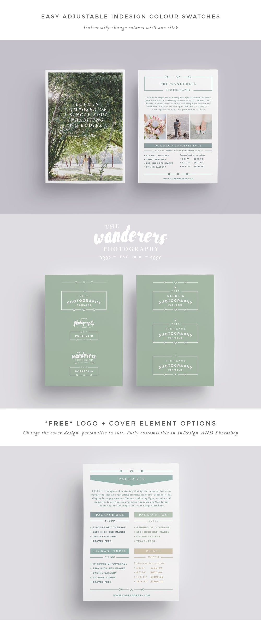 Image of WANDERERS Wedding Flyer Price List