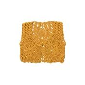 Image of CAMILA CROCHET VEST Mustard