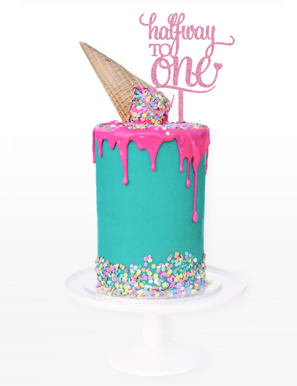 Image of Halfway to One Cake Topper