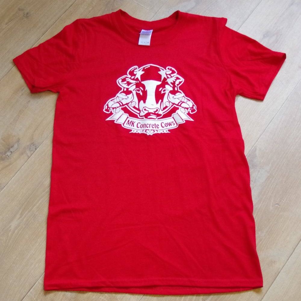 Image of Red Concrete Cows Shirt