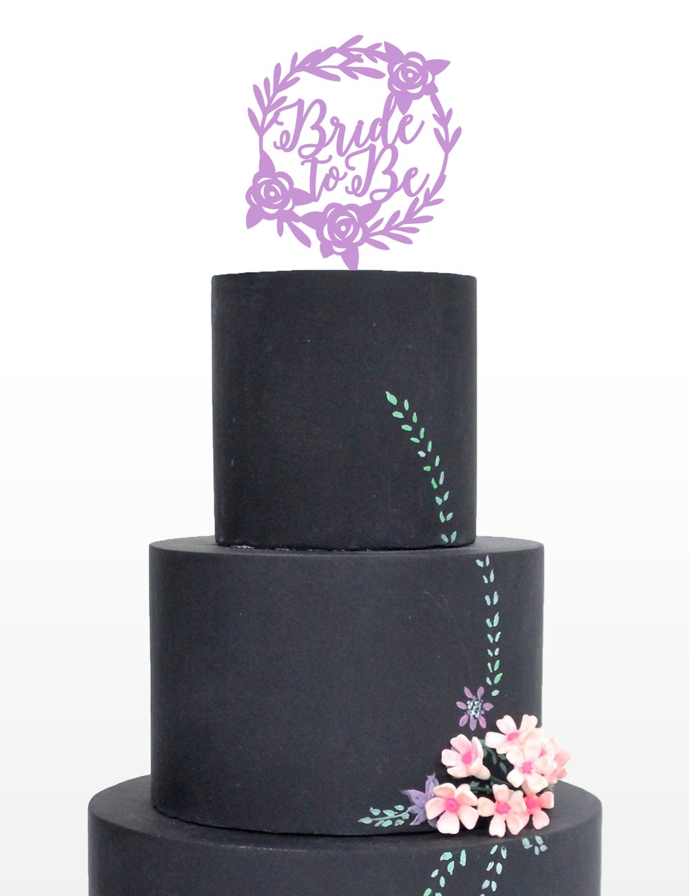 Image of Floral Bride to Be Cake Topper