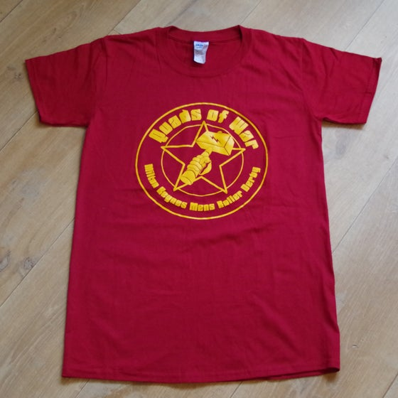 Image of Burgandy Quads of War Shirt
