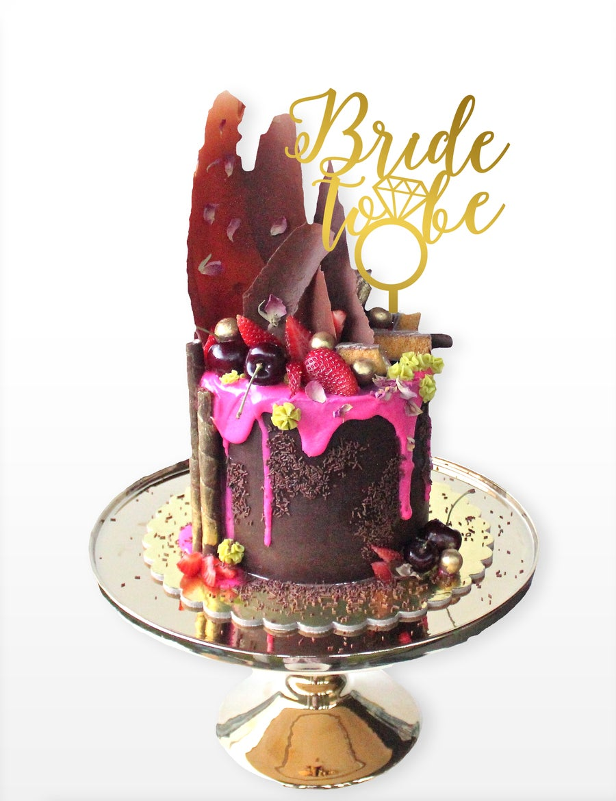 Image of Bride to Be Bling Cake Topper