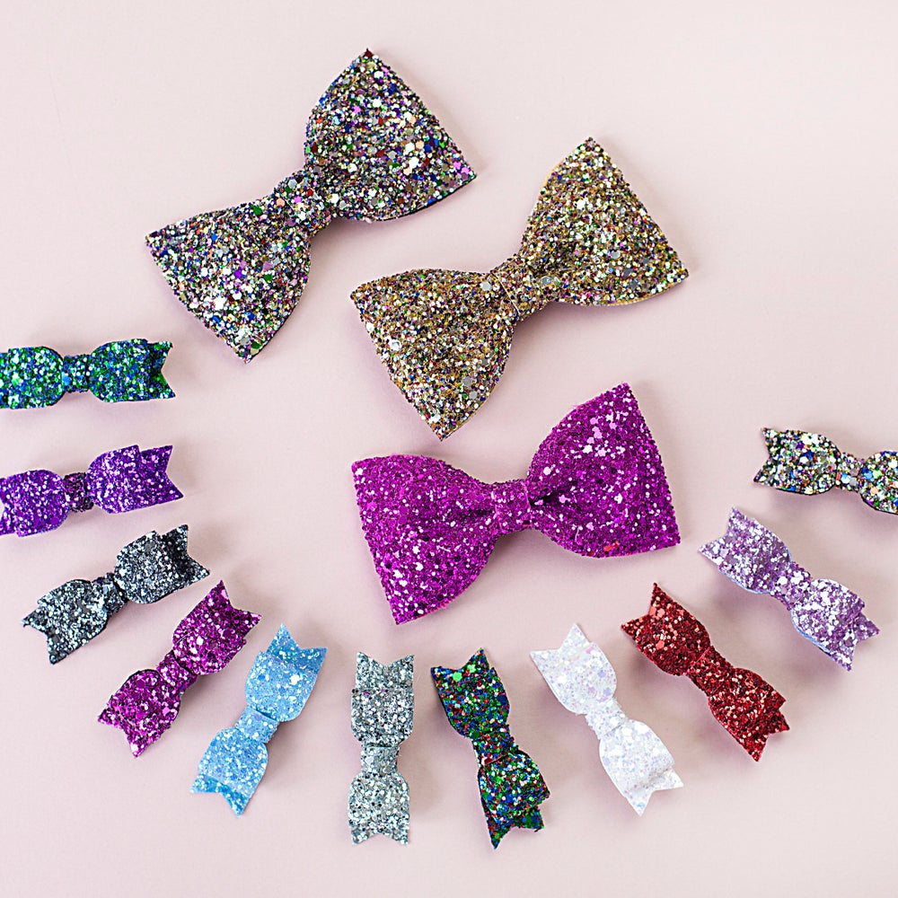 Image of Glitter Hair Bow - Small or Large