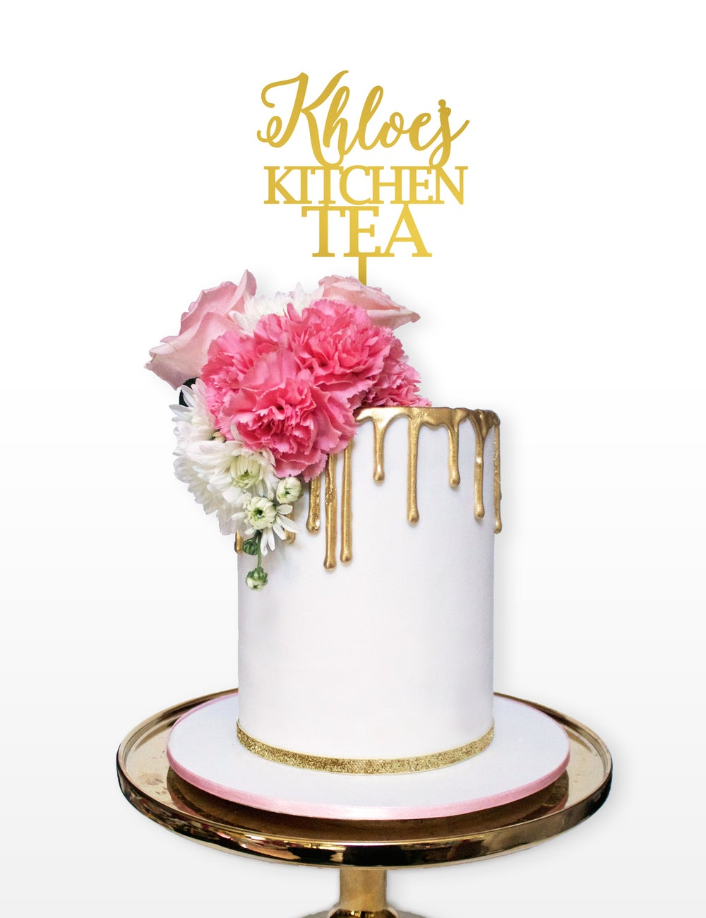 Image of Personalised Kitchen Tea Cake Topper