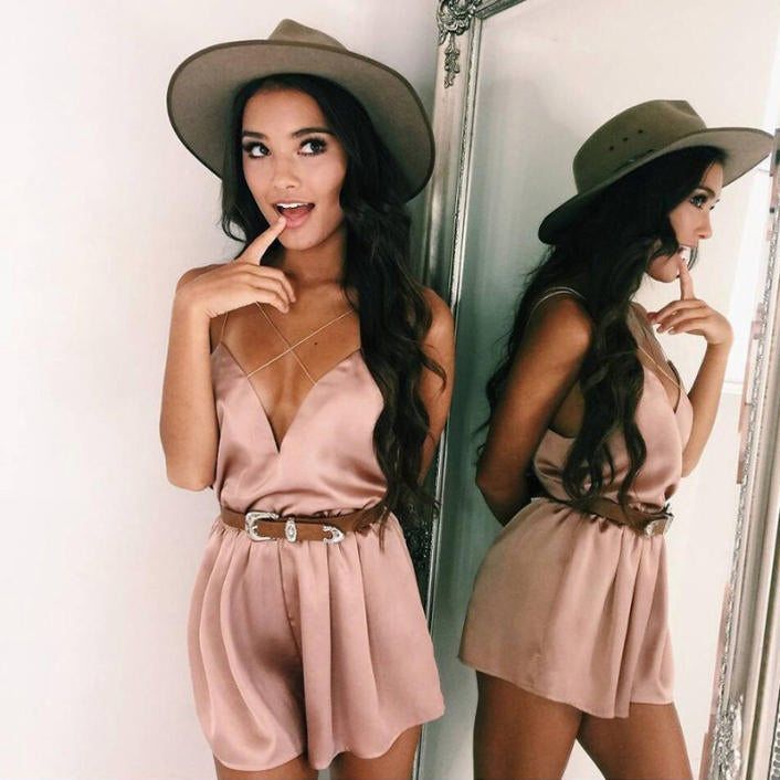 Image of Adrian Playsuit Dust Pink