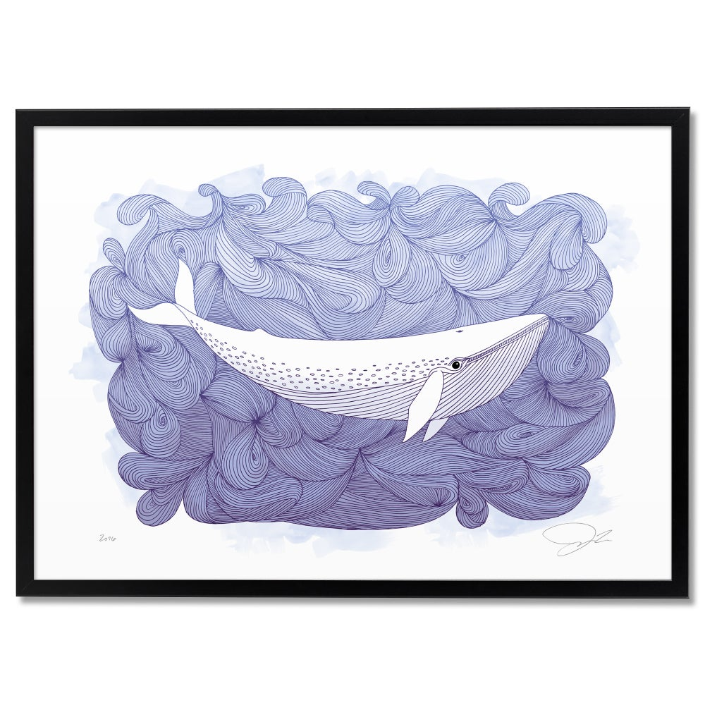 Image of Print: Wavy Whale Colour