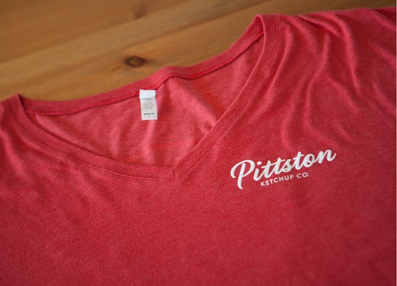 Image of Pittston Ketchup Co. Women's V-Neck T-Shirt