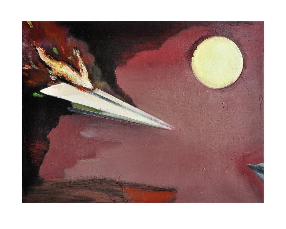 "Image of Artprint / kunsttryk / ""Airplane II"" / 40x50 cm"
