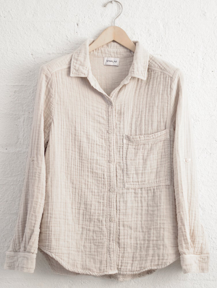 Image of SALE Sam & Lavi Gema Button Down in Bone