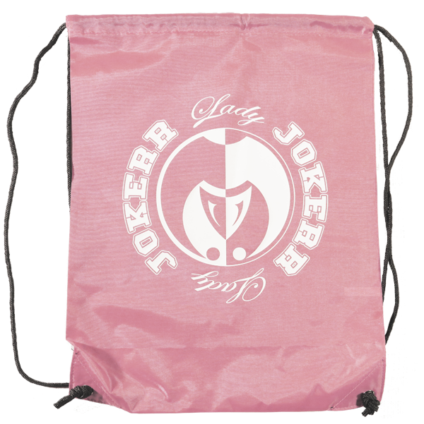 Image of Lady Jokerr Drawstring Bag/Backpack (Pink & White)