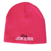 Lady Jokerr Legacy Letterman Beanie (White & Black on Hot Pink)