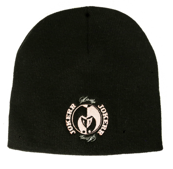 Image of Lady Jokerr Seal Beanies (Pink & White on Black)