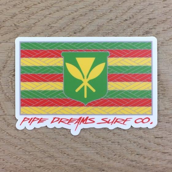 "Image of Kanaka Maoli Flag 3"" Vinyl Sticker"