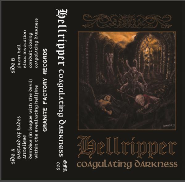 Image of Hellripper - Coagulating Darkness Cassette Tape