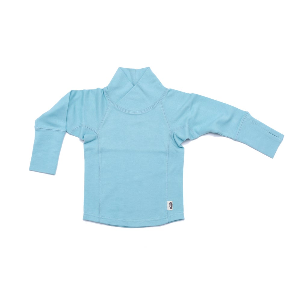 Image of Wrap & Roll Turtleneck . Sky Blue