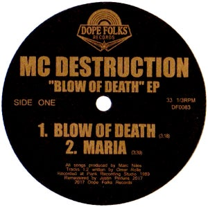 "Image of MC DESTRUCTION ""BLOW OF DEATH"" EP"