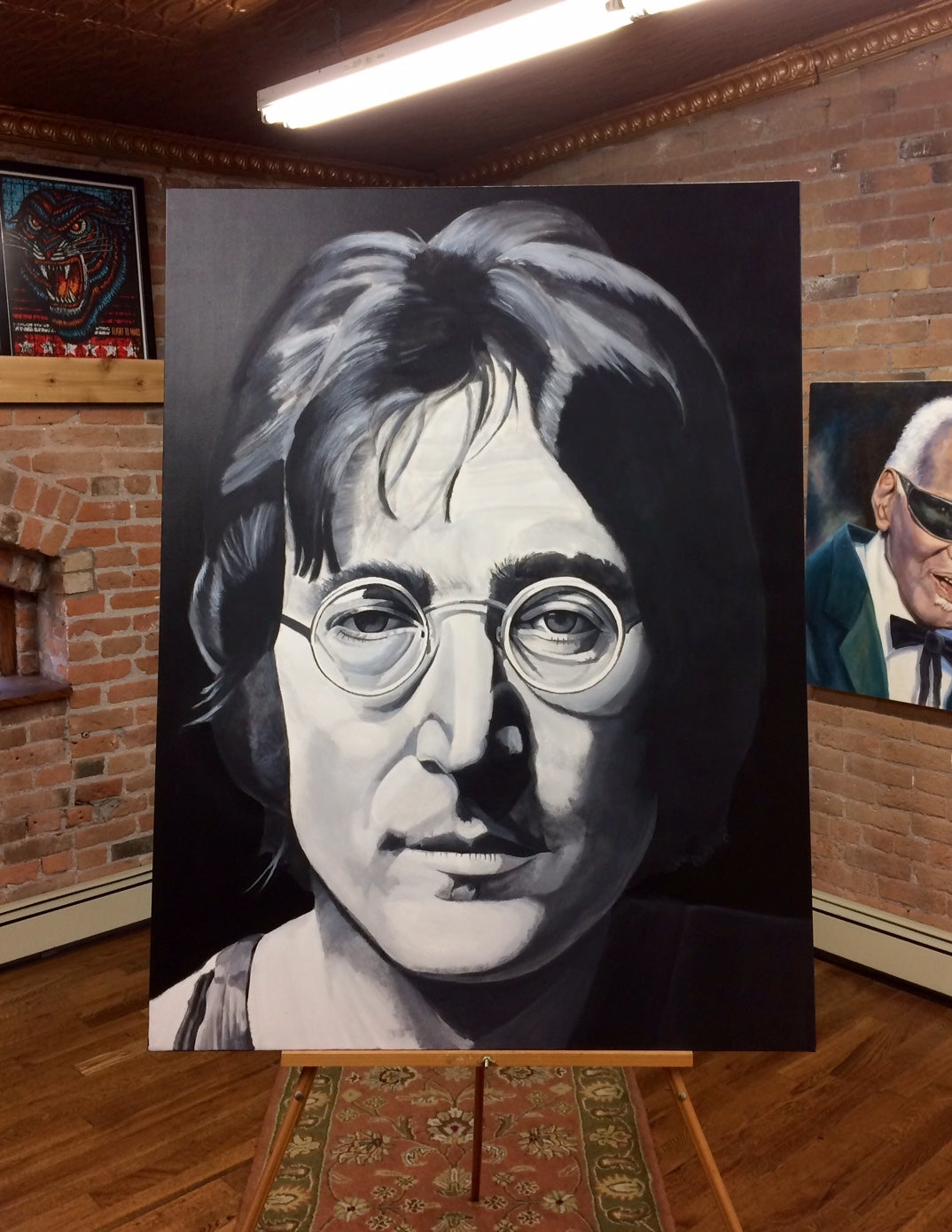 "Image of ""Imagine"" (John Lennon) • Original Brian Broadway Painting"