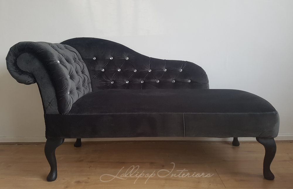 Image of Stunning chaise longue in charcoal