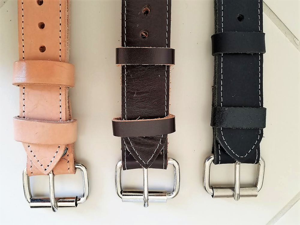 Image of HIGH QUALITY BUG LEATHER TIE-DOWN STRAPS FOR THAT CLASSIC VINTAGE LOOK. (SET OF 2)