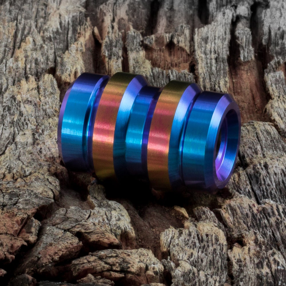 Image of Keg Teal & Rose Gold Ti Bead #1