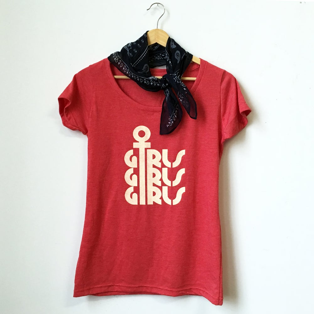 Image of GIRLS GIRLS GIRLS tee - red heather