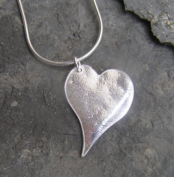 Image of Silver heart pendant