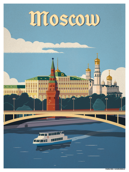 Image of Moscow River Poster