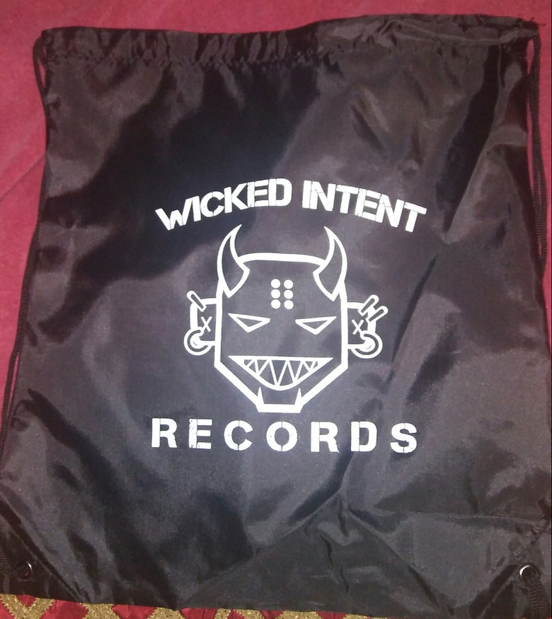 Image of Wicked Intent Records- Drawstring Bag