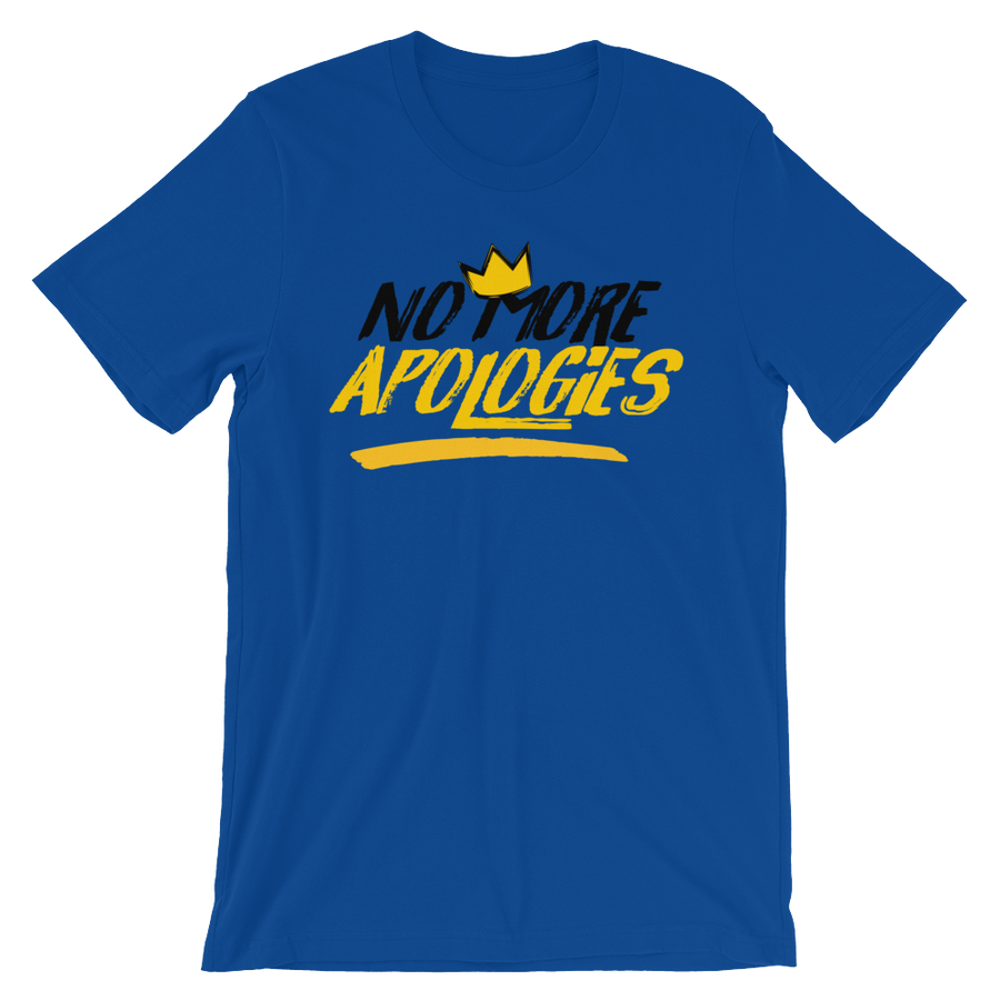 "Image of No More Apologies ""New Logo"" Unisex Crew Neck Shirt"