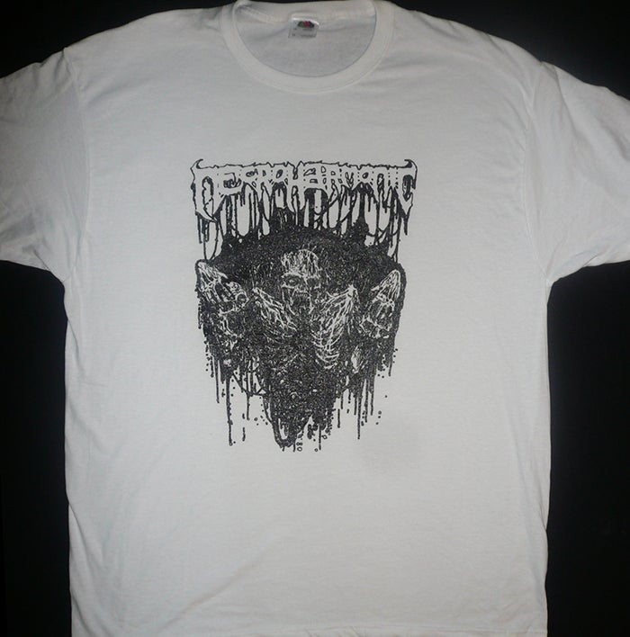 Image of Necroharmonic  -  Grave Ghoul  - White T shirt