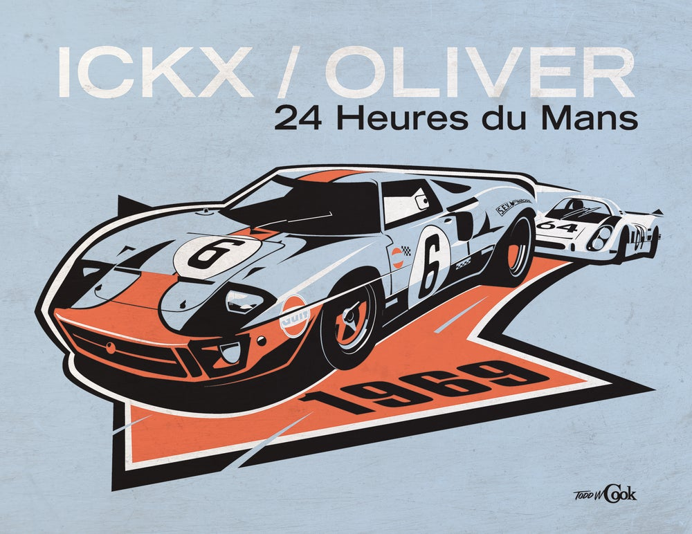 Image of Ford GT40 at LeMans Print