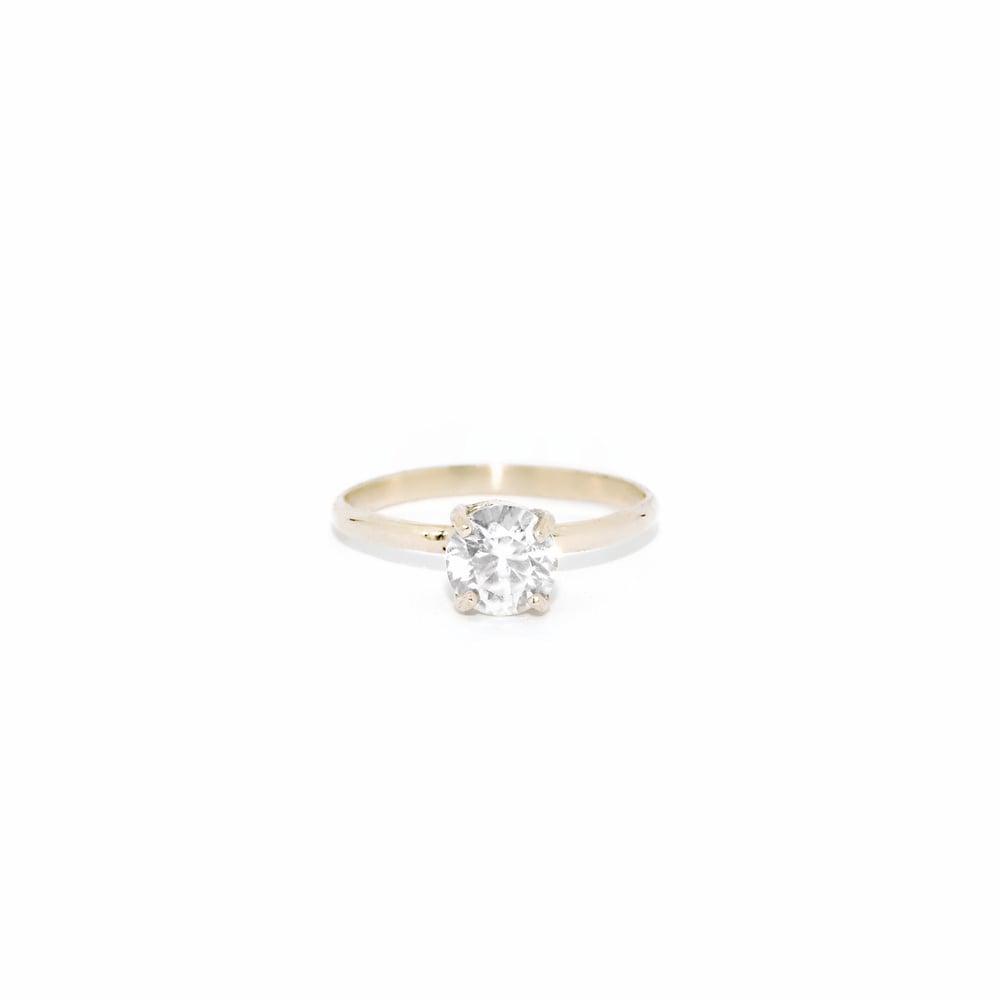 Image of solitaire zircon ring