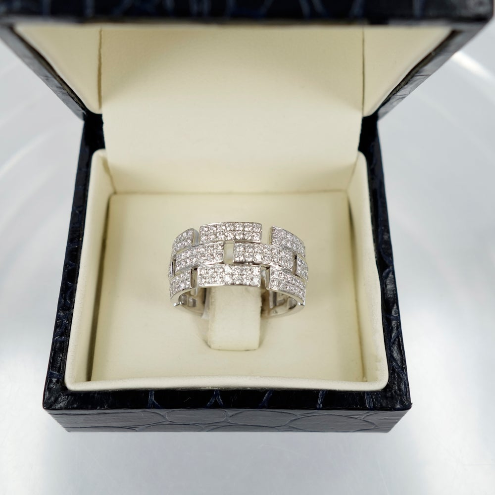 Image of 14ct White Gold and diamond cocktail ring