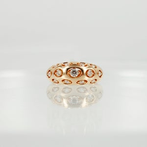 Image of 14ct Rose Gold Cocktail Ring.
